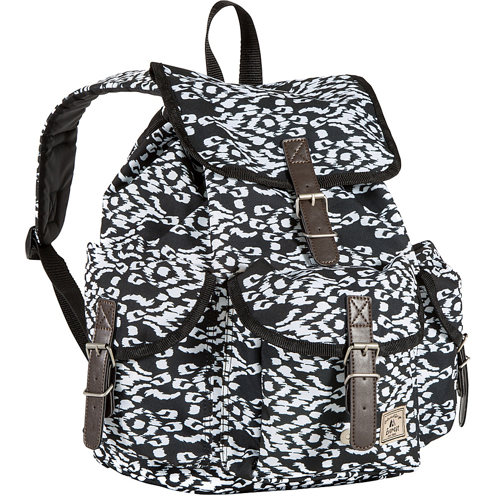 Everest Pattern Rucksack Black/White Ikat - Everest School & Day Hiking Backpacks - Backpacks, School & Day Hiking Backpacks
