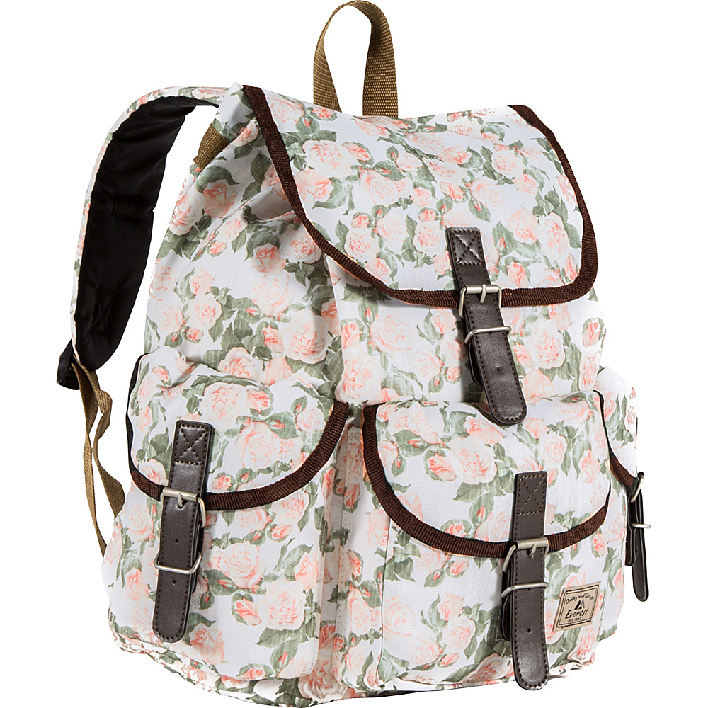 Everest Pattern Rucksack Vintage Floral - Everest School & Day Hiking Backpacks - Backpacks, School & Day Hiking Backpacks