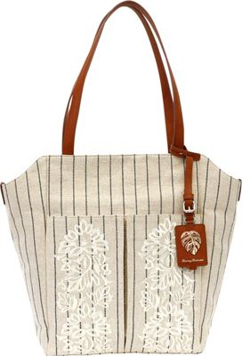 Tommy Bahama Handbags Paradise Flower Tote Natural - Tommy Bahama Handbags Fabric Handbags
