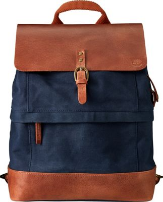 Timberland Wallets Nantasket Canvas & Leather Backpack Black Iris - Timberland Wallets Laptop Backpacks