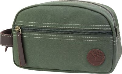 Timberland Wallets Classic Canvas Travel Kit Olive - Timberland Wallets Toiletry Kits