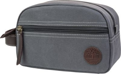 Timberland Wallets Classic Canvas Travel Kit Charcoal - Timberland Wallets Toiletry Kits