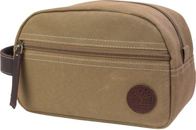 Timberland Wallets Classic Canvas Travel Kit Khaki - Timberland Wallets Toiletry Kits