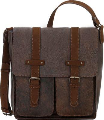 TrueLu The Jaime Messenger Walnut - TrueLu Leather Handbags
