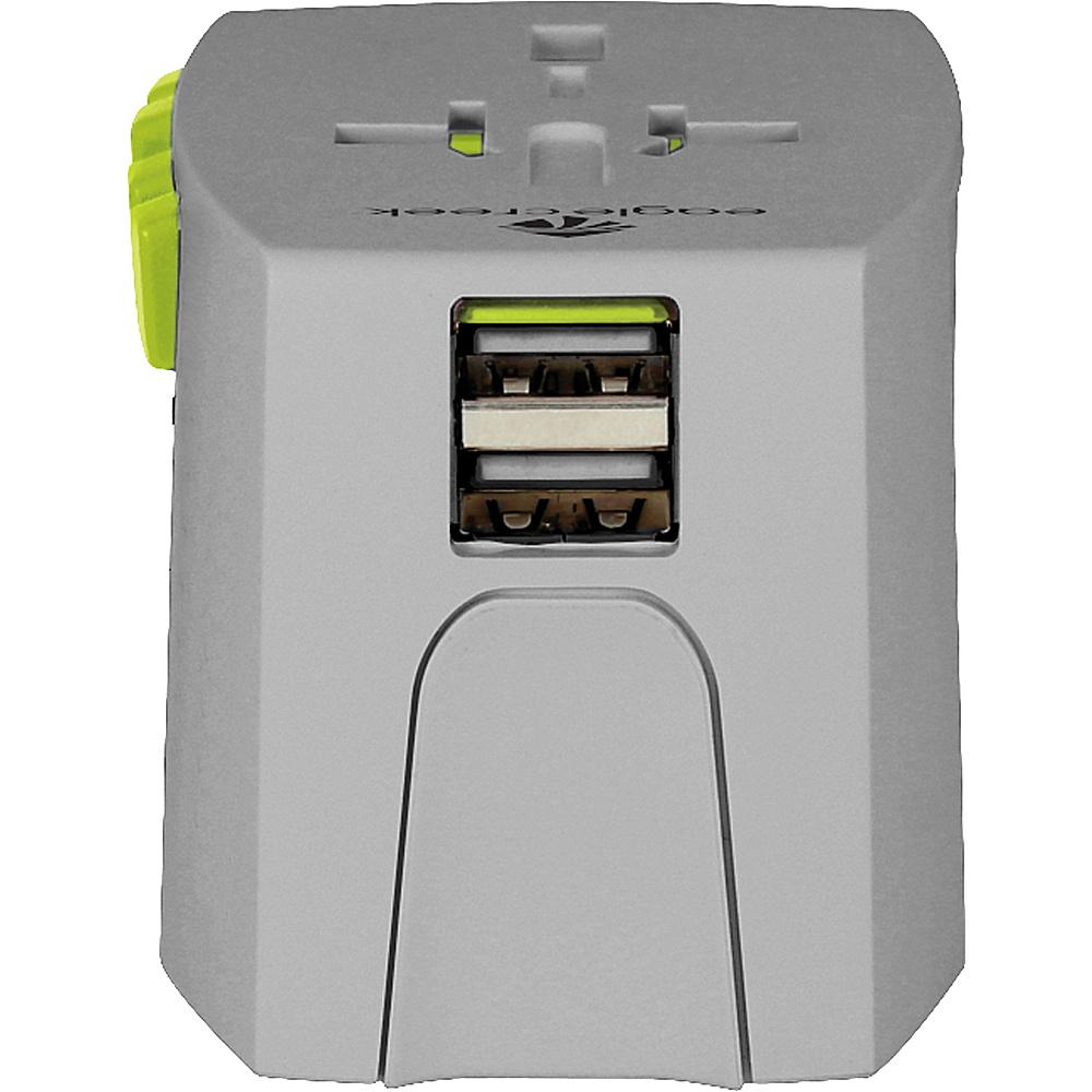 Eagle Creek USB Universal Travel Adapter Quarry Grey/Strobe - Eagle Creek Travel Electronics - Travel Accessories, Travel Electronics