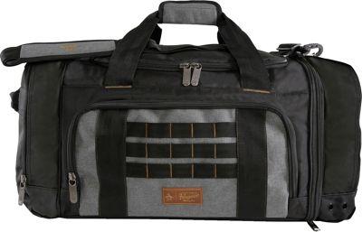 Original Penguin Luggage Highfield 24 inch Medium Weekender Duffel Bag Black/Crosshatch - Original Penguin Luggage Travel Duffels