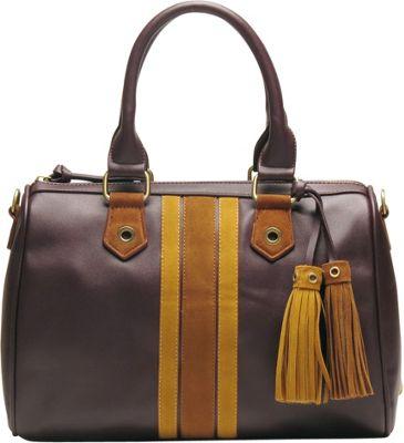 Like Dreams Selena Satchel Dark Brown - Like Dreams Manmade Handbags