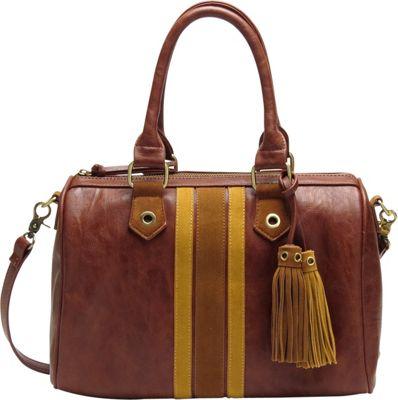 Like Dreams Selena Satchel Cognac - Like Dreams Manmade Handbags