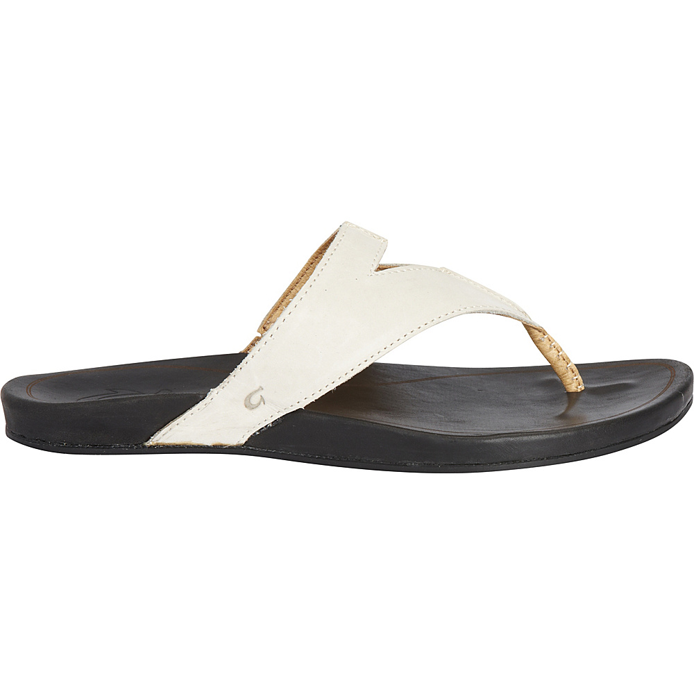 OluKai Womens Lala Sandal 7 - Off White/Black - OluKai Womens Footwear - Apparel & Footwear, Women's Footwear