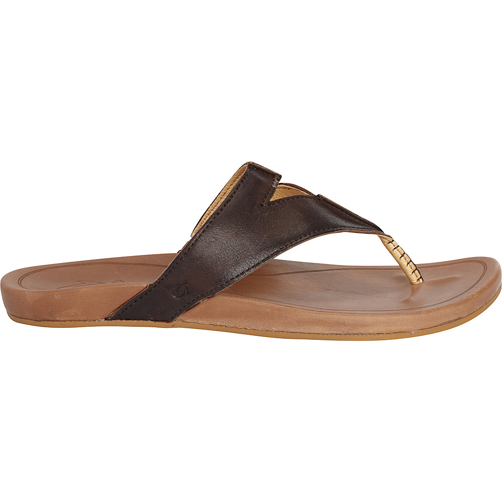 OluKai Womens Lala Sandal 11 - Kona Coffee/Tan - OluKai Womens Footwear - Apparel & Footwear, Women's Footwear