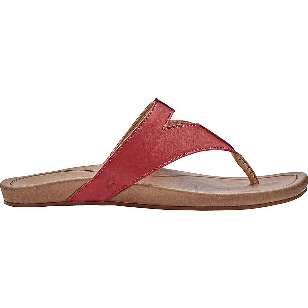 OluKai Womens Lala Sandal 6 - Paprika/Tan - OluKai Womens Footwear - Apparel & Footwear, Women's Footwear