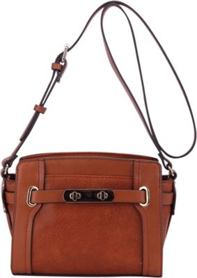 MKF Collection by Mia K. Farrow Coach Crossbody Bag Brown - MKF Collection by Mia K. Farrow Manmade Handbags