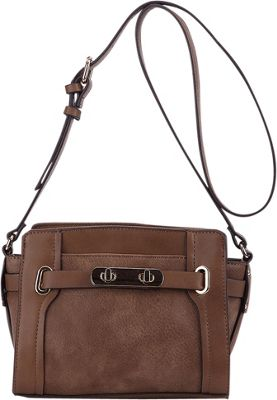 MKF Collection by Mia K. Farrow Coach Crossbody Bag Khaki - MKF Collection by Mia K. Farrow Manmade Handbags