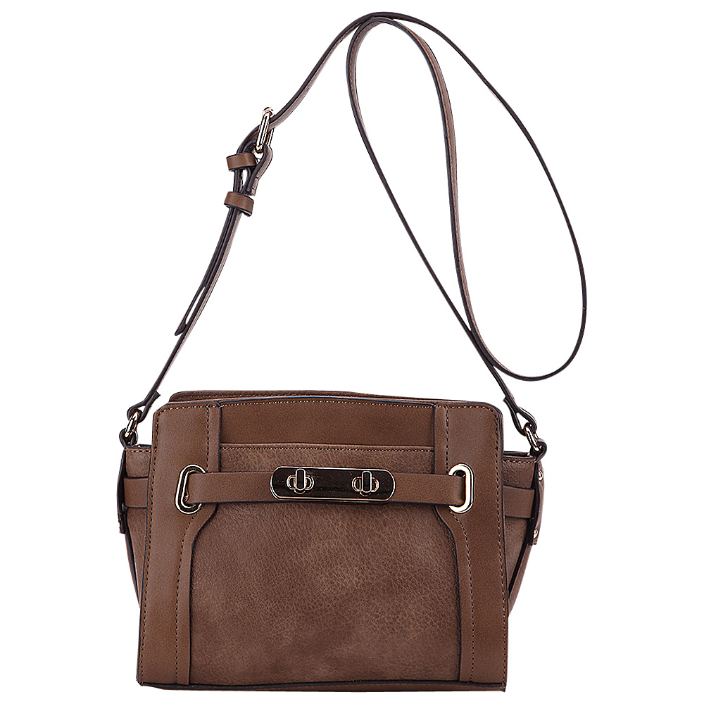 MKF Collection Coach Crossbody Bag Khaki - MKF Collection Manmade Handbags