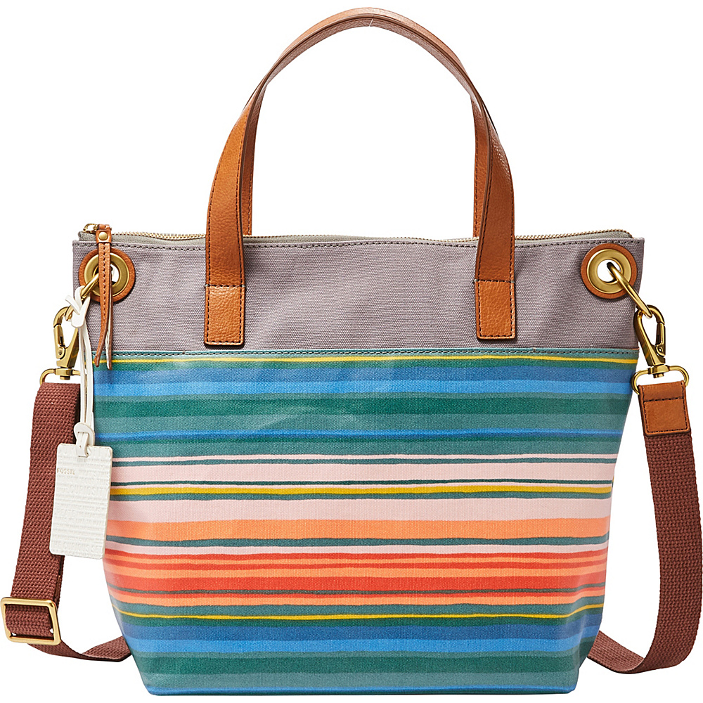 Fossil Keely Tote Stripe(993) - Fossil Fabric Handbags - Handbags, Fabric Handbags