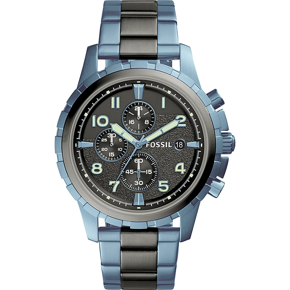Fossil Dean Chronograph Watch Blue - Fossil Watches - Fashion Accessories, Watches
