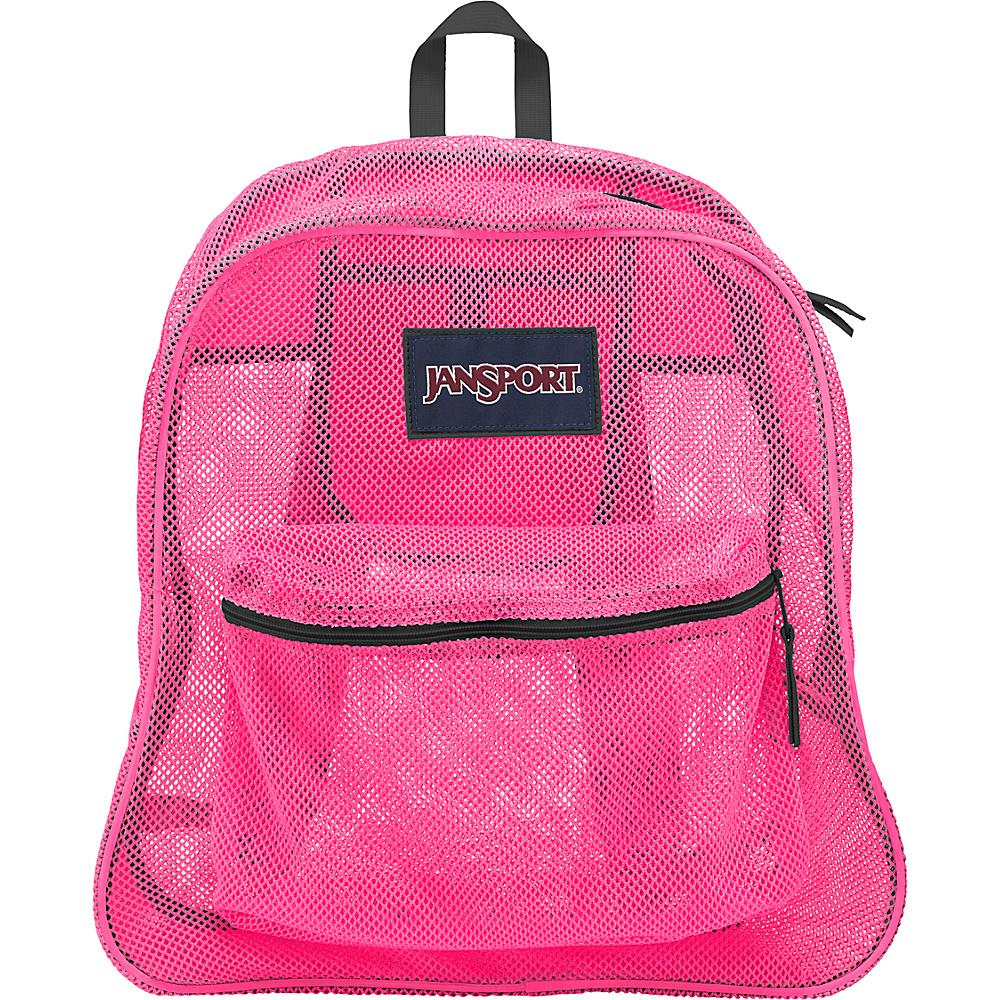 JanSport Mesh Pack- Discontinued Colors Ultra Pink - JanSport Everyday Backpacks