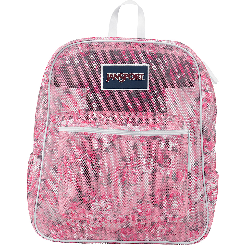 JanSport Mesh Pack- Discontinued Colors Prism Pink Pretty Posey - JanSport Everyday Backpacks