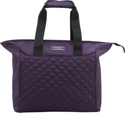 Kensie Luggage 14 inch Fashion Tote with Padded Tablet and iPad Compartment Purple - Kensie Luggage Luggage Totes and Satchels