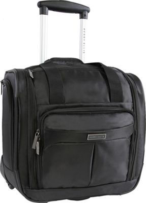 Perry Ellis Excess 9-Pocket Underseat Rolling Tote Carry-On Bag Black - Perry Ellis Softside Carry-On