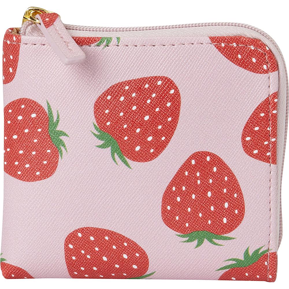 Buxton Fruit Punch Pik-Me-Up Mini L-Zip Grayed Jade - Buxton Womens Wallets - Women's SLG, Women's Wallets