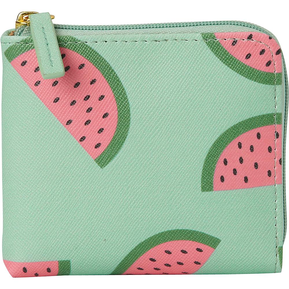 Buxton Fruit Punch Pik-Me-Up Mini L-Zip Sugar Coral - Buxton Womens Wallets - Women's SLG, Women's Wallets