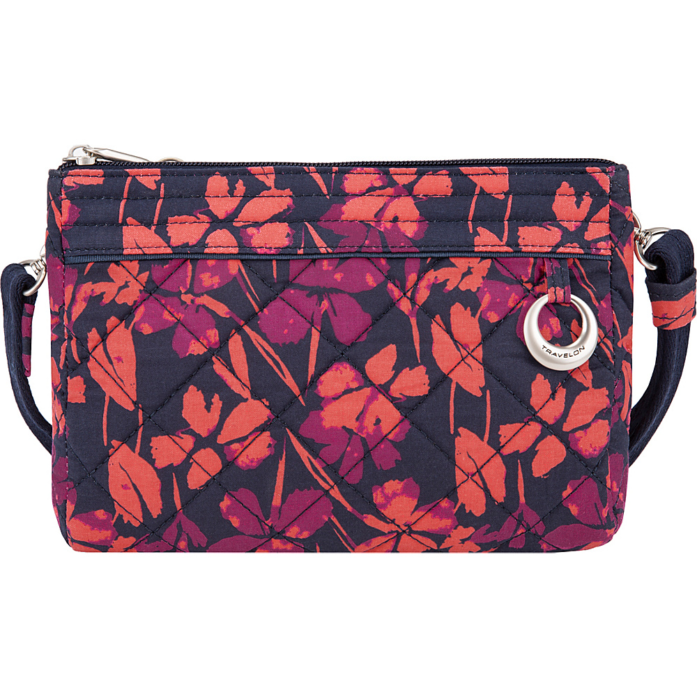Travelon Anti-Theft Boho Convertible Crossbody Clutch Painted Floral - Travelon Fabric Handbags - Handbags, Fabric Handbags