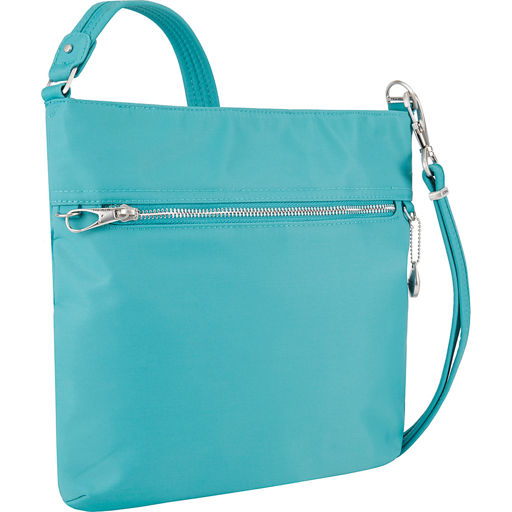 Travelon Anti-Theft Tailored N/S Slim Bag Aquamarine - Travelon Fabric Handbags - Handbags, Fabric Handbags