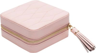 WOLF Caroline Zip Travel Case Rose Quartz - WOLF Packing Aids