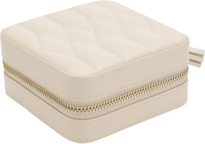 WOLF Caroline Zip Travel Case Ivory - WOLF Packing Aids