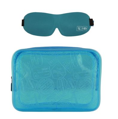 Flight 001 X Ray Quart Bag and Eye Mask Set - EXCLUSIVE Blue - Flight 001 Travel Comfort and Health 10548397
