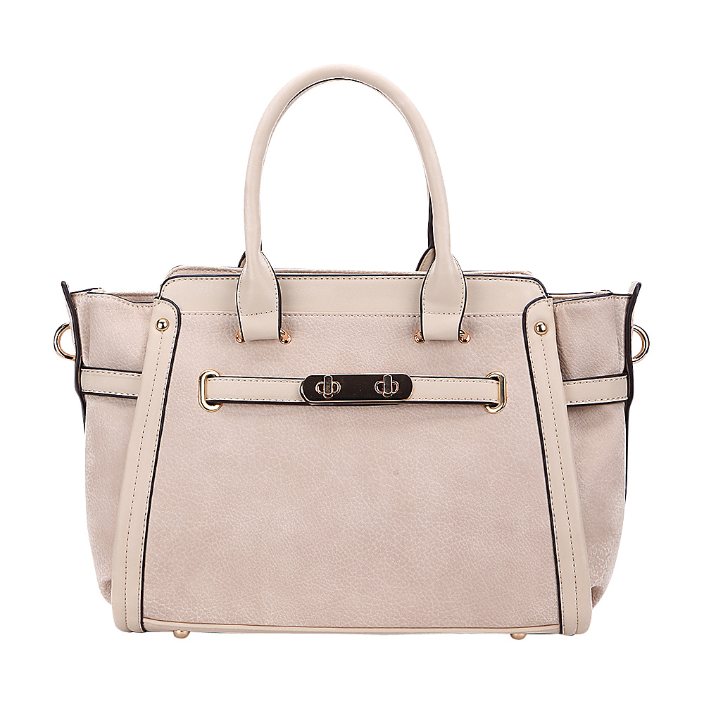 MKF Collection Swagger Carryall Handbag Beige - MKF Collection Manmade Handbags - Handbags, Manmade Handbags