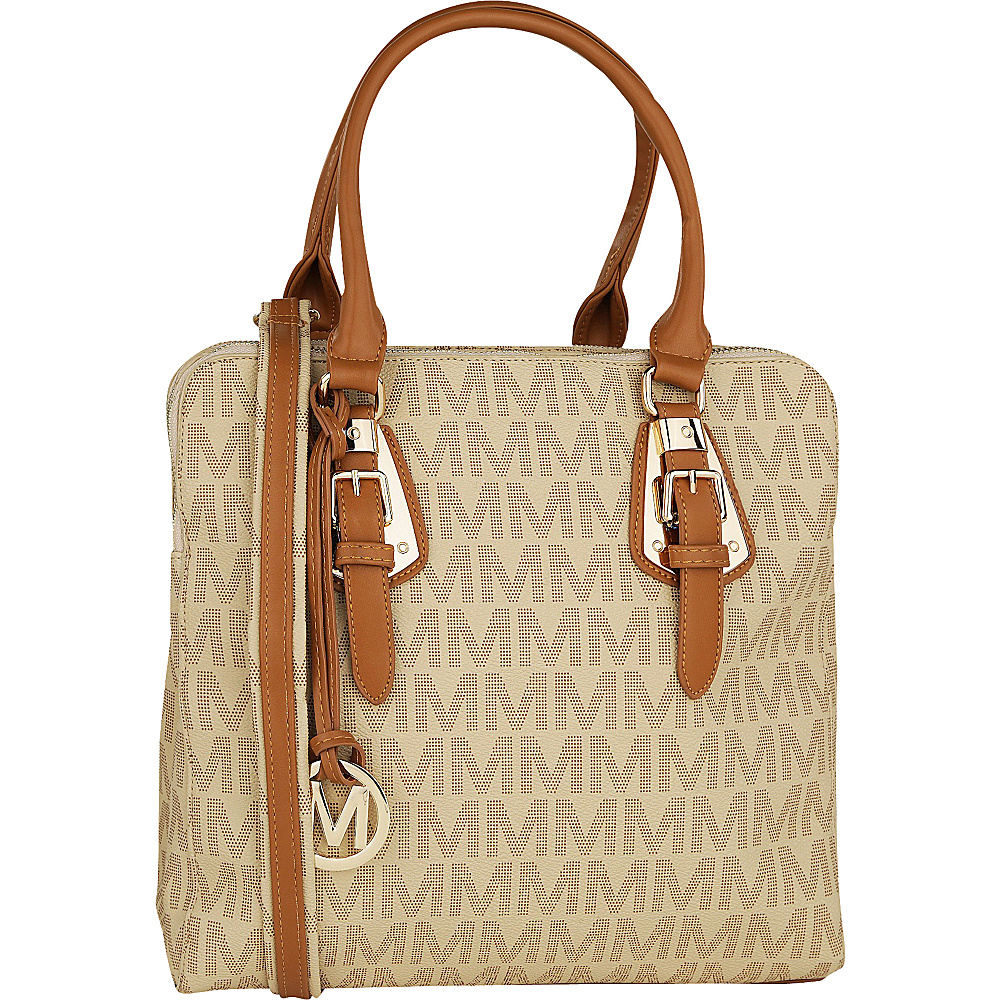 MKF Collection Perry M Signature Handbag Beige - MKF Collection Manmade Handbags - Handbags, Manmade Handbags