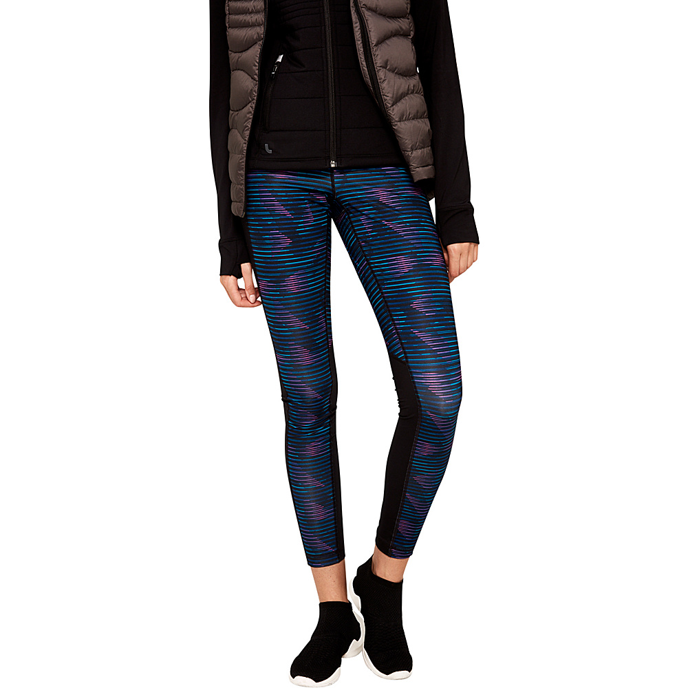 Lole Glorious Leggings XS - Dark Berry Rumors - Lole Womens Apparel - Apparel & Footwear, Women's Apparel