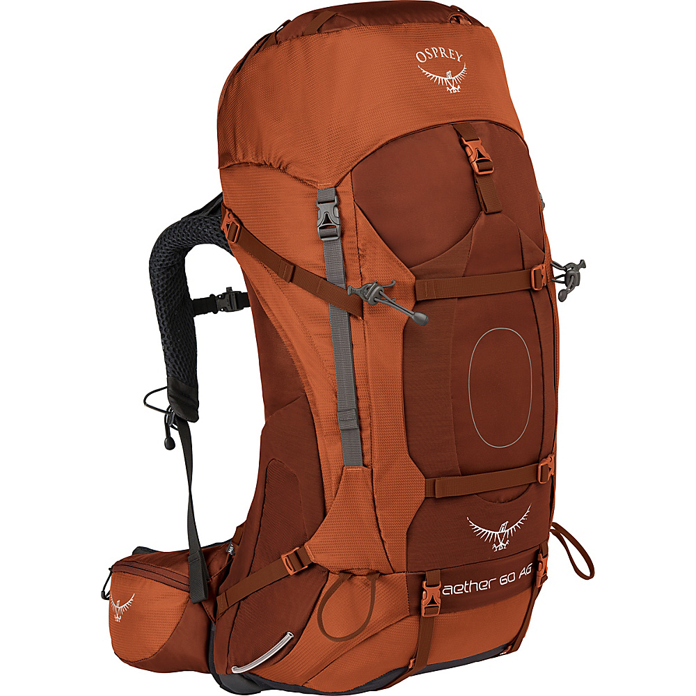 Osprey Aether AG 60 Hiking Pack Outback Orange – MD - Osprey Backpacking Packs - Outdoor, Backpacking Packs