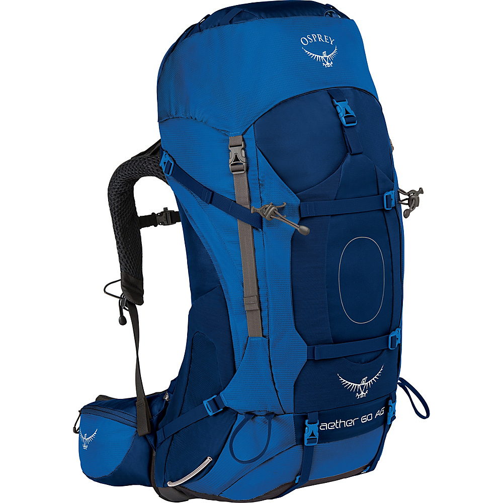 Osprey Aether AG 60 Hiking Pack Neptune Blue – LG - Osprey Backpacking Packs - Outdoor, Backpacking Packs