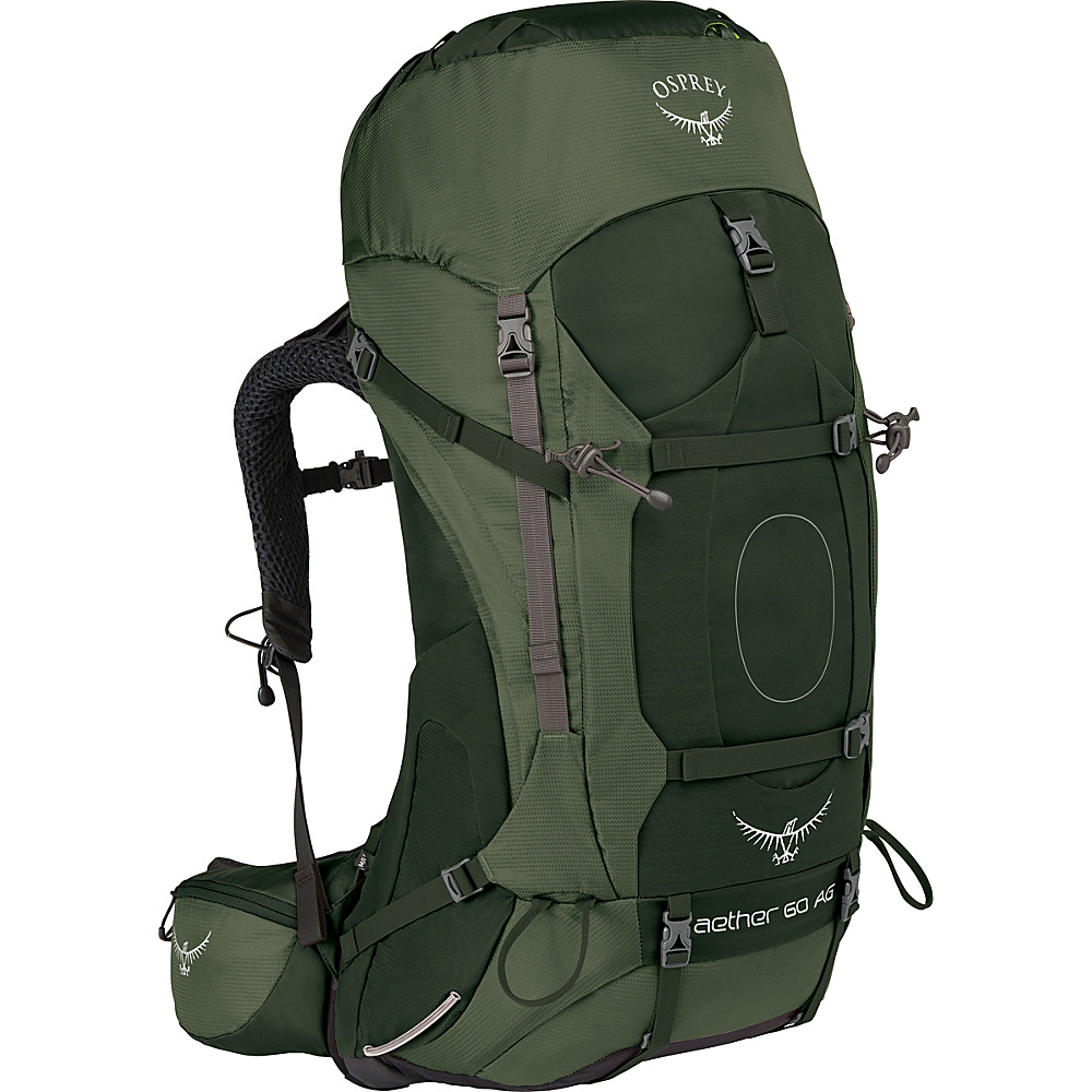 Osprey Aether AG 60 Hiking Pack Adriondack Green – LG - Osprey Backpacking Packs - Outdoor, Backpacking Packs