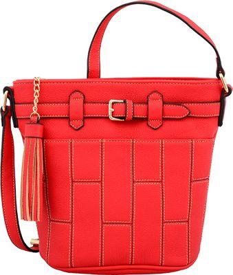 Mellow World Josie Shoulder Bag Red - Mellow World Manmade Handbags
