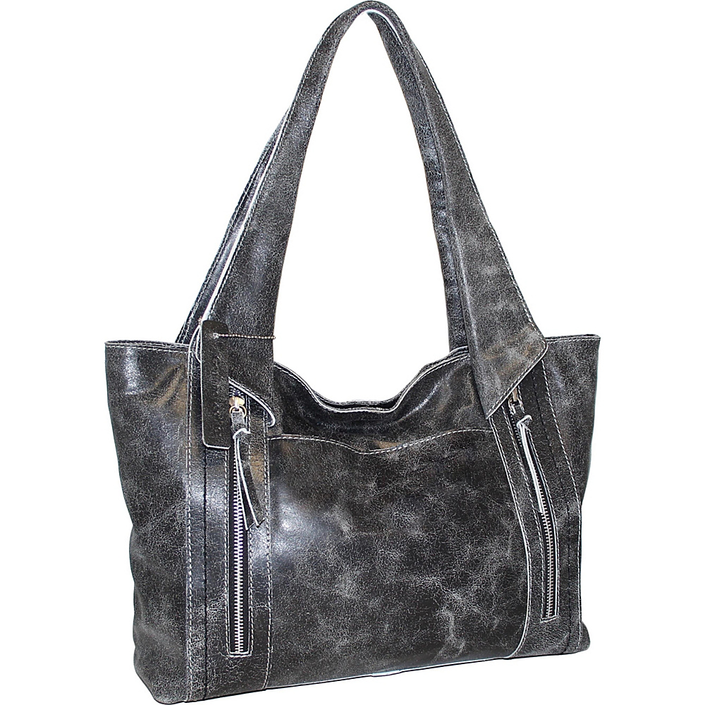 Nino Bossi Fiona Tote Black - Nino Bossi Leather Handbags - Handbags, Leather Handbags
