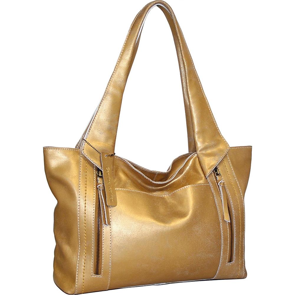 Nino Bossi Fiona Tote Gold - Nino Bossi Leather Handbags - Handbags, Leather Handbags