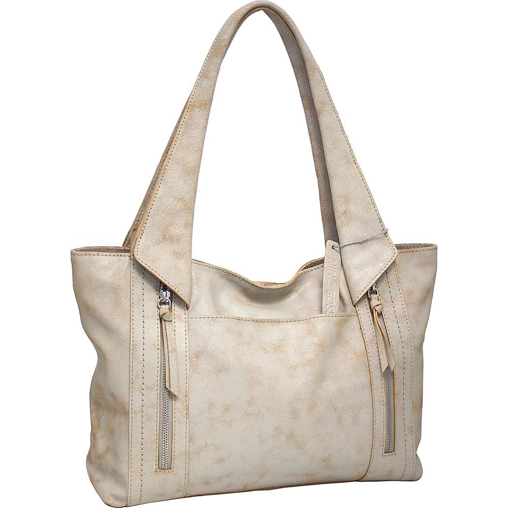 Nino Bossi Fiona Tote White - Nino Bossi Leather Handbags - Handbags, Leather Handbags