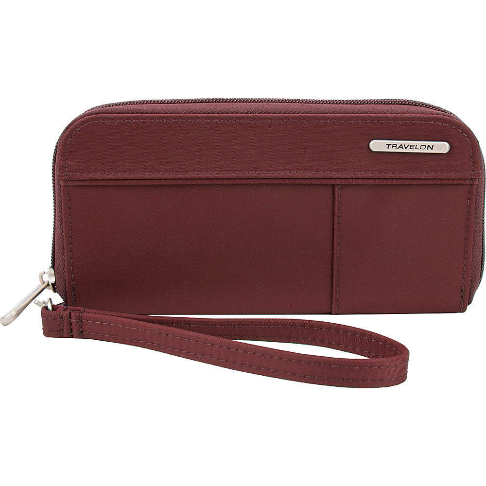 Travelon RFID Welted Wallet - Exclusive Maroon - Travelon Womens Wallets - Women's SLG, Women's Wallets