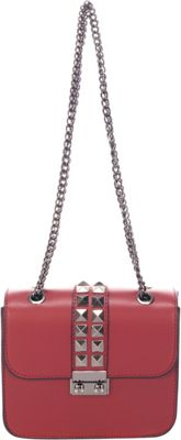 Lisa Minardi Chain Strap Shoulder Bag Bordo - Lisa Minardi Leather Handbags
