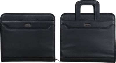Franklin Covey Monarch Size Secure Zip-Around 3-Ring Binder with Hidden Pull Out Handles Black - Franklin Covey Business Accessories