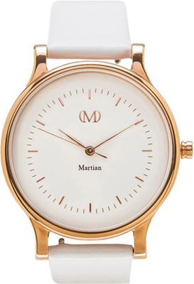 Martian Watches Martian CL 01 Smartwatch Creme Dial / Rose Gold Stainless Steel Case / Whit - Martian Watches Wearable Technology