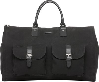Hook & Albert Waxed Canvas Garment Weekender Bag Black - Hook & Albert Travel Duffels