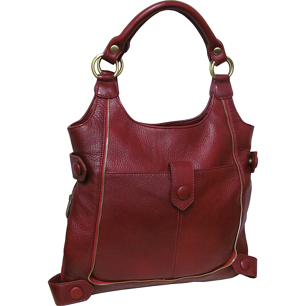 AmeriLeather Judelle Universal Shoulder Bag Red - AmeriLeather Leather Handbags - Handbags, Leather Handbags