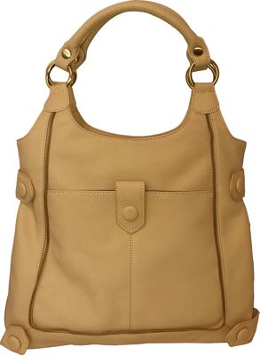 AmeriLeather Judelle Universal Shoulder Bag Beige - AmeriLeather Leather Handbags