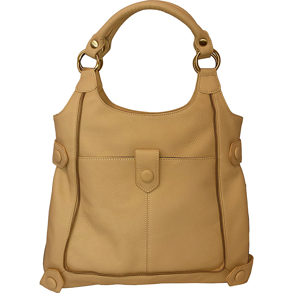 AmeriLeather Judelle Universal Shoulder Bag Beige - AmeriLeather Leather Handbags - Handbags, Leather Handbags