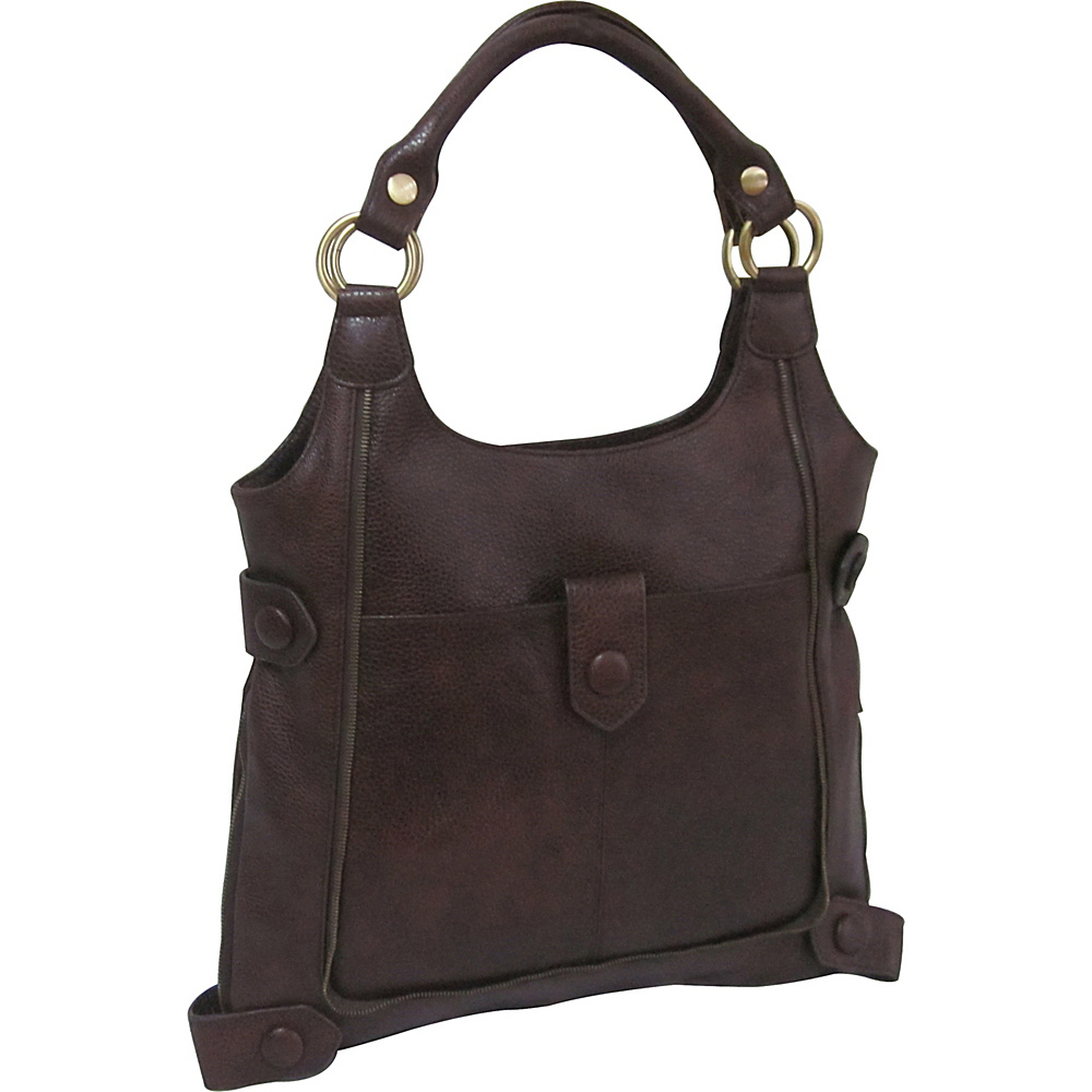 AmeriLeather Judelle Universal Shoulder Bag Waxy Brown - AmeriLeather Leather Handbags - Handbags, Leather Handbags